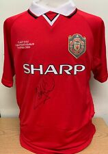 ANDY COLE SIGNED MANCHESTER UNITED 1999 CHAMPIONS LEAGUE FINAL SHIRT COA & PROOF