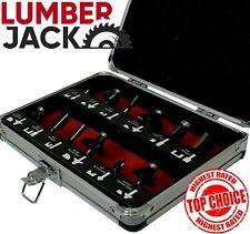 "Lumberjack 1/4"" Shank 12 Piece TCT Router Bit Cutter Set in Case Trade Qaulity"