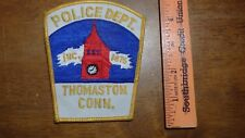 RARE THOMASTON CONNECTICUT POLICE DEPARTMENT EARLY  OBSOLETE PATCH BX 11#7