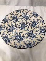 """Wood & Sons Made In England Fine Tableware Blue & White 11"""" Plate"""