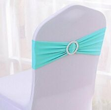 Satin Chair Cover Stretch Sashes Bow Hotel Wedding Banquet Decor 10PCS