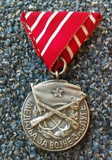 Yugoslavia medal for military merit, Cyrillic and Latin, medal order FNRJ !