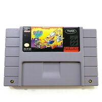 ROCKO'S MODERN LIFE Super Nintendo SNES Game - Tested - Working - Authentic!