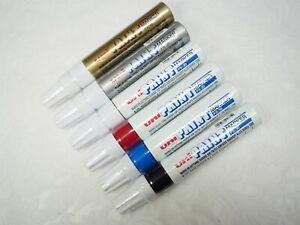 6 Colours set, Uni-Ball PX-30 4.0~8.5mm Broad Oil Based Permanent Paint Marker