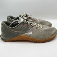 Nike Mens Metcon 4 Cross Training Shoes Gray Lace Up Low Top Mesh Sneakers 11.5
