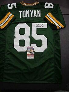 Robert Tonyan Greenbay Packers Autographed Signed Custom Style Jersey Coa JSA+
