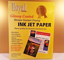 New ROYAL BRITES Glossy Coated Ink Jet Photo Paper - 50 sheets
