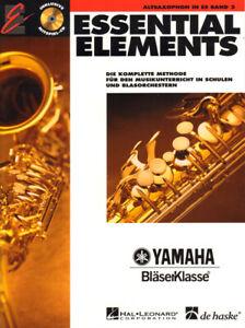 Essential Elements Bläserklasse Altsaxophon in Es Eb Band 2 Noten mit CD