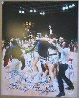 1972 USA Olympic Basketball Team Signed 16X20 Photo - 13 Signatures - PSA DNA