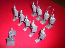 10 BIG CAESAR ROMAN GALLANT GLADIATOR silver playset figures Remco 1963 LOT #2
