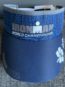 Ironman World Championship Headsweats One Size Visor KONA 2012 Hawaiian Print