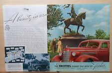 1937 double page magazine ad for Oldsmobile - Beauty in Armor, Turret Top body