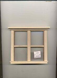 Window - Traditional Double 1/1 - w/ Header  423 miniature 1:12 scale USA made