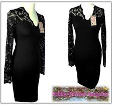 BNWT Lipsy Amy Childs Alesha Black lace Bodycon dress Size 12  RRP £65.00