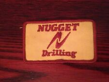 Vintage NUGGET Drilling -Sew On Patch  3.5 x 2""