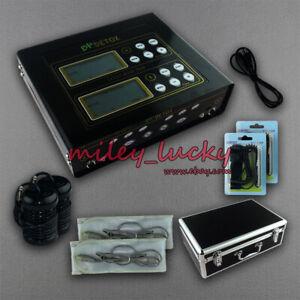 Dual Ionic Detox Foot Bath Machine LCD & Fir Belt 5 Modes Ion Cleanse Beauty use