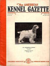 Vintage American Kennel Gazette October 1938 Cocker Spaniel Cover