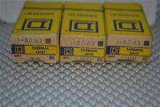 ONE NEW Square D thermal overload relay heater element unit B0.63