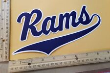 """HUGE LOS ANGELES RAMS IRON-ON PATCH - 5"""" x 9"""""""