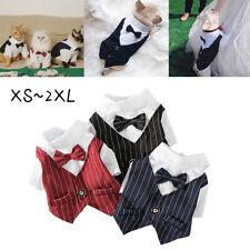 Pet Cats Bowtie Tuxedo Wedding Suit Dog Clothes Christmas Halloween Formal Dog