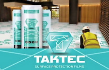 Taktec Hard Surface Flooring Protection Film 600mm x 50m Roll DIY Painting Build