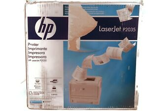 HP LaserJet P2035 Monochrome Laser Printer Open Box Still Sealed New Cords USB