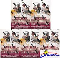 (5) 2015 Panini Contenders Baseball EXCLUSIVE Sealed Retail Boxes-10 AUTOGRAPHS