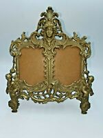 Antique Victorian Brass Cherub Art Nouveau Picture Frame