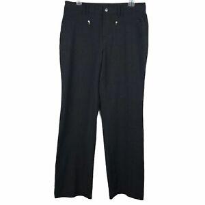 Athleta Passage Charcoal Grey Wool Blend Pants Women Sz 8 Zip Pockets
