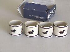 Epoch C 201 American Duck Decoy Napkin Rings Set Of 4 In Original Box