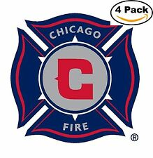 Chicago Fire Soccer Club FC MLS Football Soccer Vinyl Sticker Decal 4X4