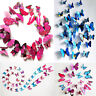 12 PCS 3D Pegatinas De Pared Diseño Mariposa Arte Papillon Decal Hogar Casa