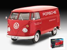 Volkswagen VW T1 Kastenwagen Panel Van Red Plastic Kit 1:16 Model REVELL