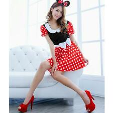 Sexy Disney Minnie Mouse Party Halloween Costume Outfit Cosplay Fancy Dress
