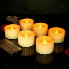6x Flameless LED Tea Light Candle Tealight & Remote Controller Wedding Party
