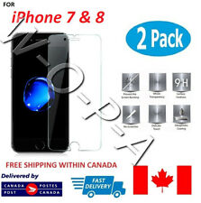 Fits iPhone 7 & 8 Premium Tempered Glass Screen Protector Canada **2 X Glass**