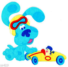"7"" BLUES CLUES NICK JR CAR  TOOLS CHARACTER FABRIC APPLIQUE IRON ON"