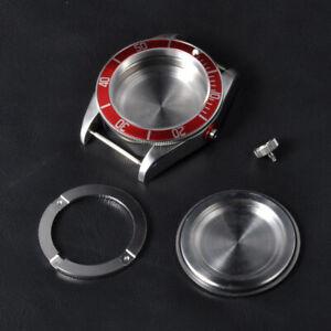 Watch Case CORGEUT 41mm Sapphire Glass Red Bezel  Fit ETA 2824 or 2836 Movements