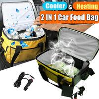 20L Portable Electric Cooler & Heating Bag Car Plug Storage Bag Box Food 12V New