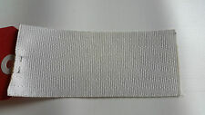 SEATBELT WEBBING 2mtr x 50mm NATURAL WHITE heat sealed each end  horse rugs,