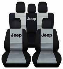 2013-2017Jeep wrangler 4dr CAR SEAT COVERS front&back black/red/gray/green/blue