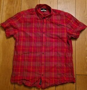 Duck And Cover Red Checked Shirt Size XXL 2XL Short Sleeve