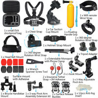 For GoPro Accessories Hero7/6/5/4/3 Bundle Camera Outdoor Sport Set Kit 44-in-1