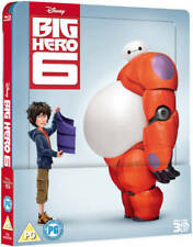 Disney Big Hero 6 Steelbook Blu-Ray 3D + Blu-Ray  New Region Free