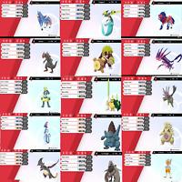 PICK ANY 5 Pokemon! ( SHINY, LEGENDARY or NON-SHINY) Sword and Shield!!!!!!!!
