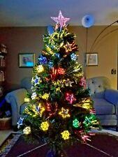 "Christmas: ROTATING 36"" FIBER OPTIC Lighted Tree Lights Rotates Complete NEW!"