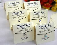 Personalised Wedding Favour Guest Gift - Custom Bracelet Favour Card