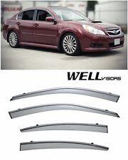 For 10-14 Subaru Legacy WellVisors Side Window Deflectors Visors W/ Chrome Trim