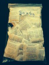 50 Silica Gel Desiccant Packs 6 grams ea. Moisture Absorbant Dry Storage