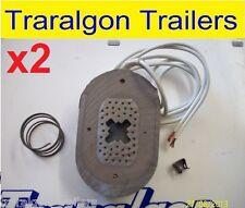 "2x 12"" oval electric brake magnet horse float caravan trailer alko dexter D64"